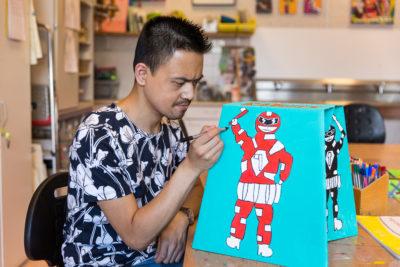 Fabian, kunstenaar bij ArtORO