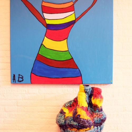 Kunstwerk Anja Bosma - Pot en schaal