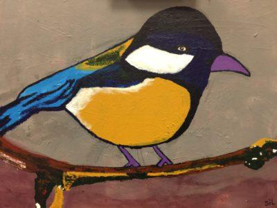 Vogel - schilderij van ArtORO kunstenaar Sil
